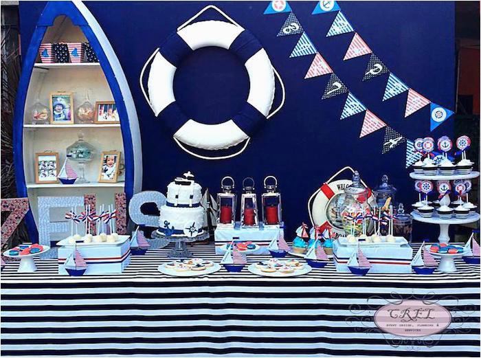 nautical 1st birthday party 2