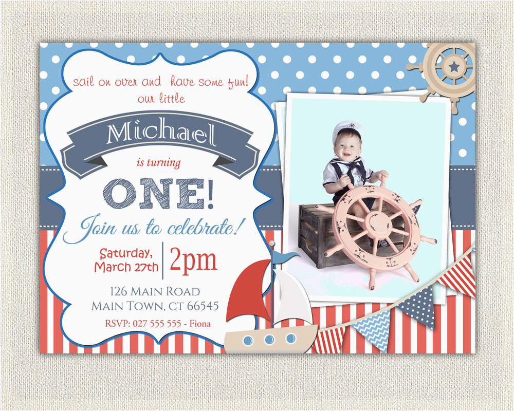 boys nautical theme 1st birthday