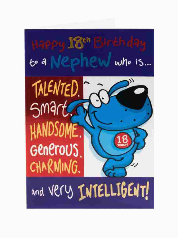 Nephew 18th Birthday Card