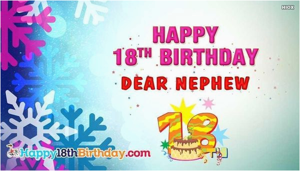 Nephew 18th Birthday Card Happy Quotes Best Bday Images For