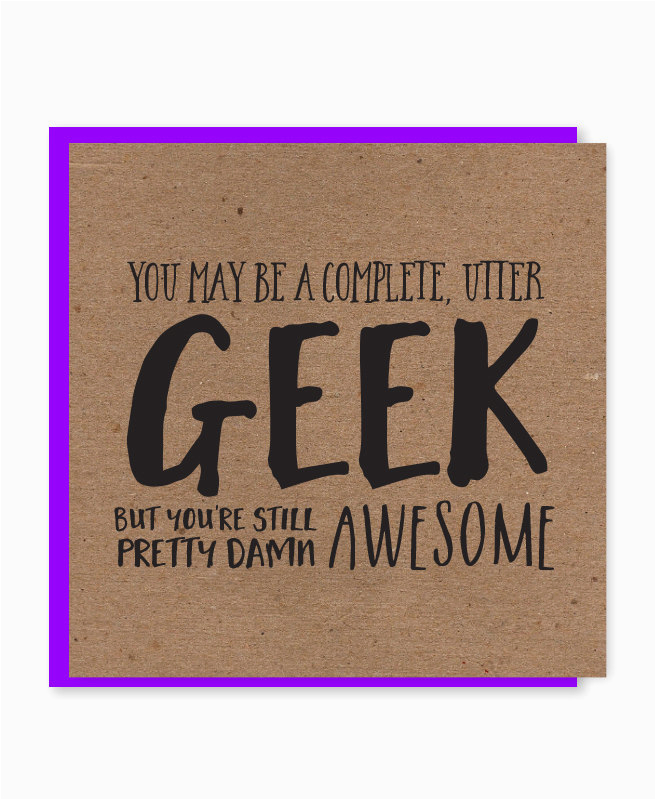 geek birthday card nerdy birthday card