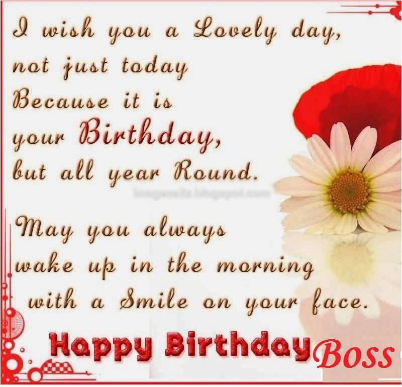 Nice Quotes Birthday Wishes For Great Boss