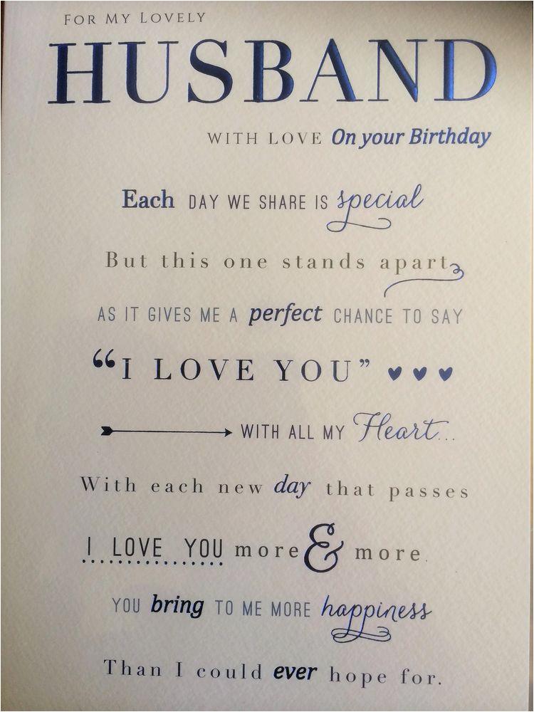 Nice Words for A Birthday Card Husband Birthday Card Nice Words Ebay