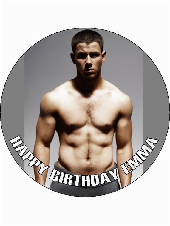 Nick Jonas Birthday Card Nick Jonas 7 5 Birthday Cake topper On Icing or by