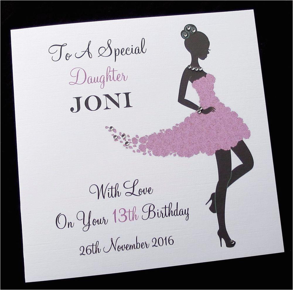 Niece 16th Birthday Card Personalised Birthday Card Sister Daughter Friend Niece