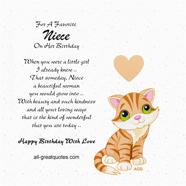 Niece Birthday Cards For Facebook Card Quotes Quotesgram