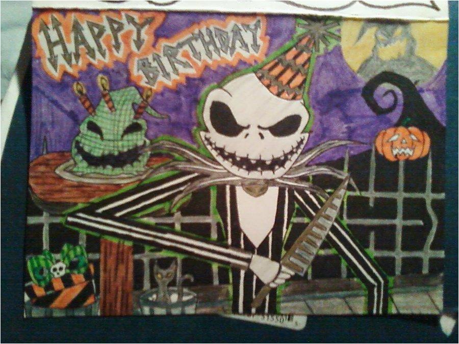 nightmare before christmas birthday card by moderndaypoe
