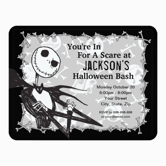 nightmare before christmas halloween party card zazzle ca
