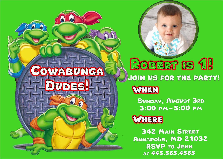 Ninja Turtles Birthday Invites Free Printable Turtle Party Invitations