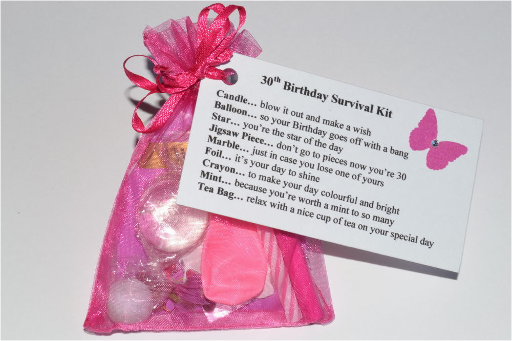 Novelty Birthday Gifts For Her 30 40 50 60th Survival Kit Gift Card