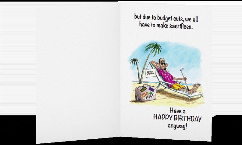 obama birthday card
