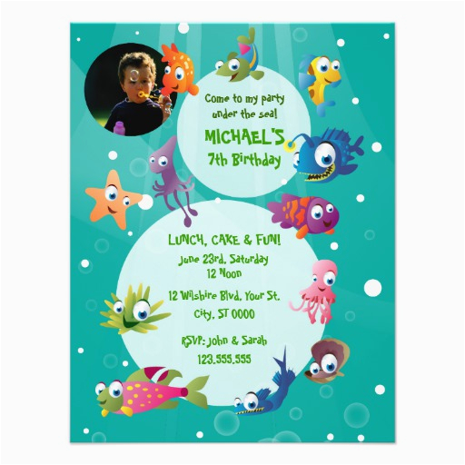 ocean theme childrens birthday party invitation 161351765524870619