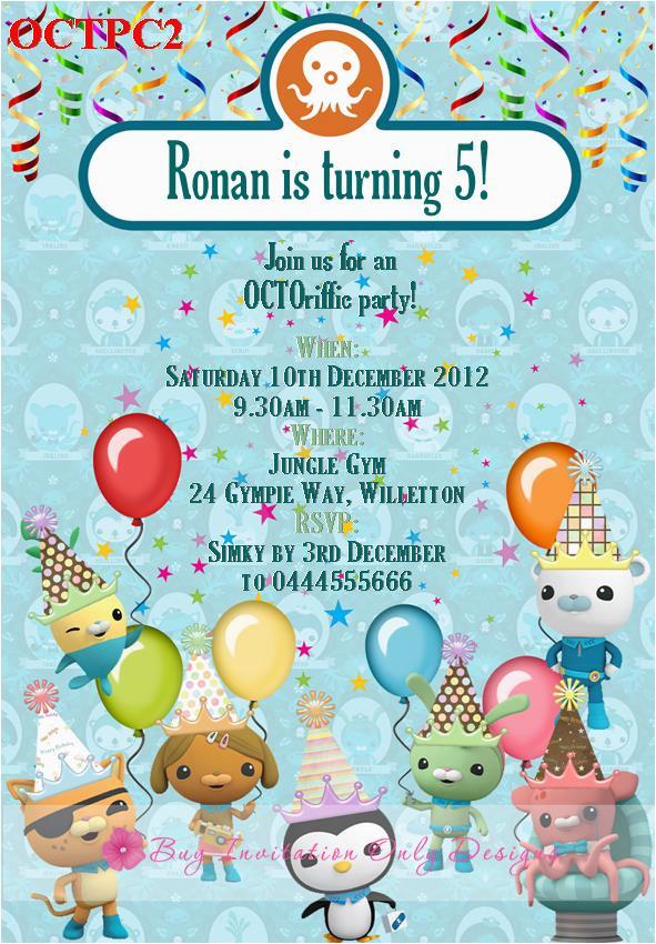 octonauts birthday party invitations