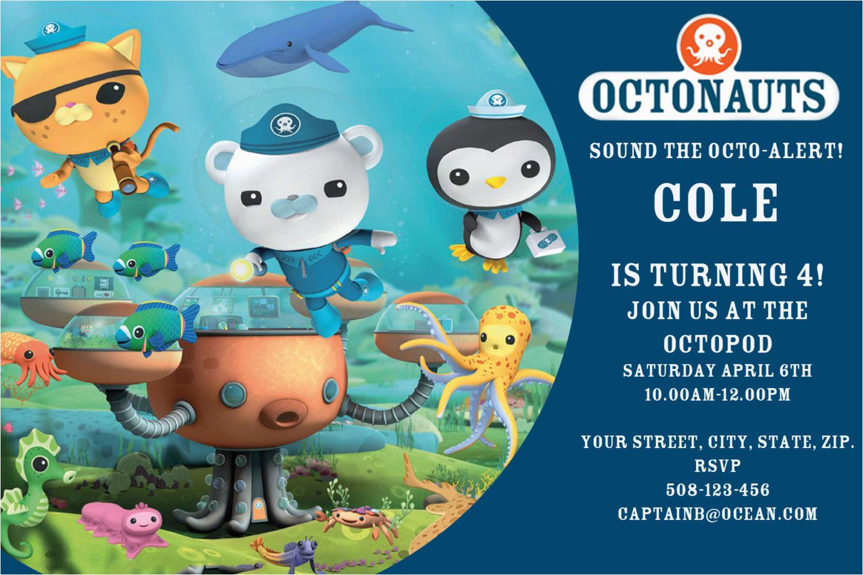octonauts party invitations