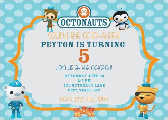 Octonauts Birthday Party Invitations Octonauts Birthday Party Invitations Cimvitation