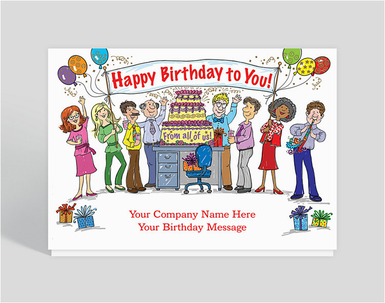 office celebration birthday card 1023810