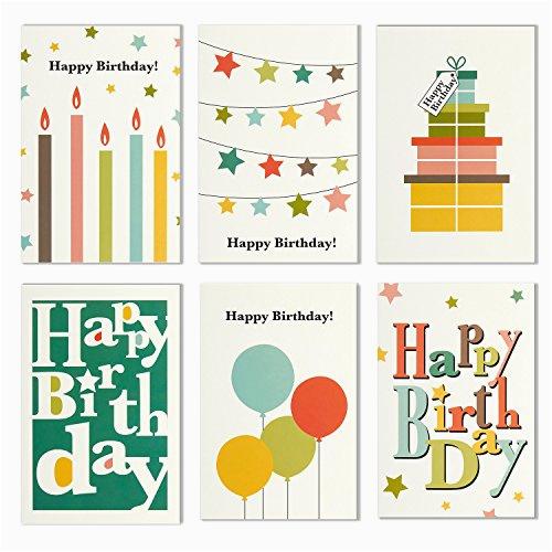 48 pack blank happy birthday greeting cards bulk box set