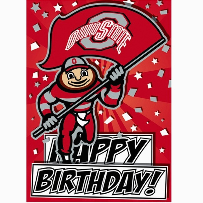 Ohio State Birthday Card Ohio State Buckeyes Greeting Card Birthday 4 Bucknut
