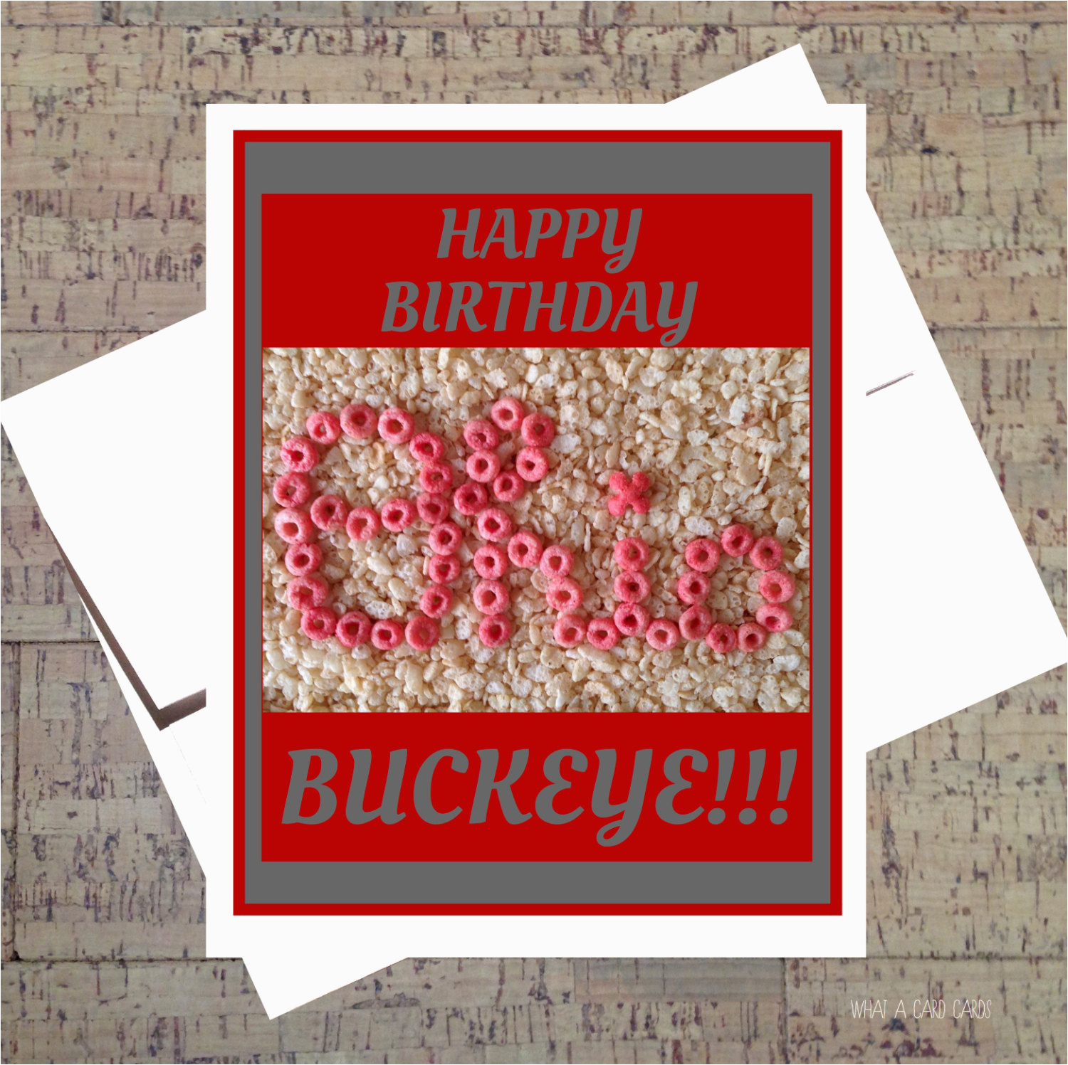 ohio state card funny birthday card