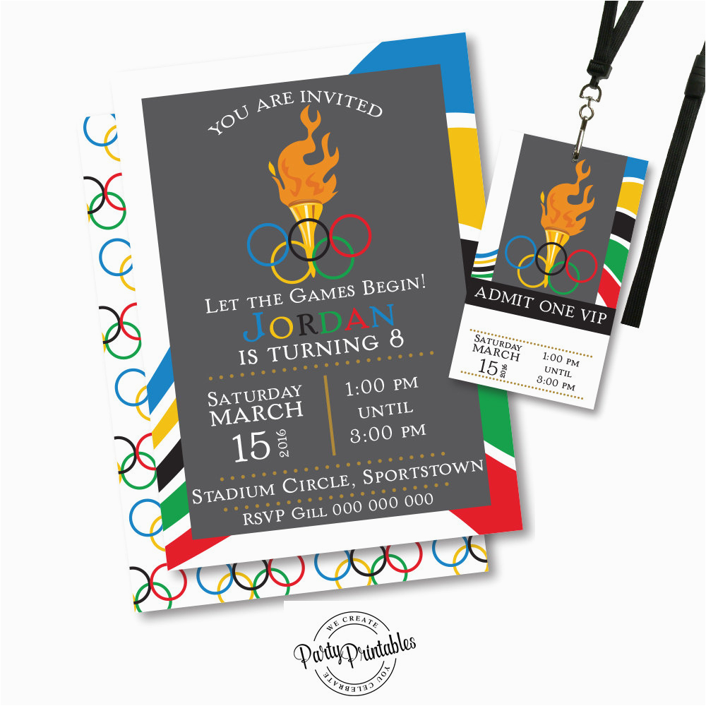 olympic party invitation olympic party
