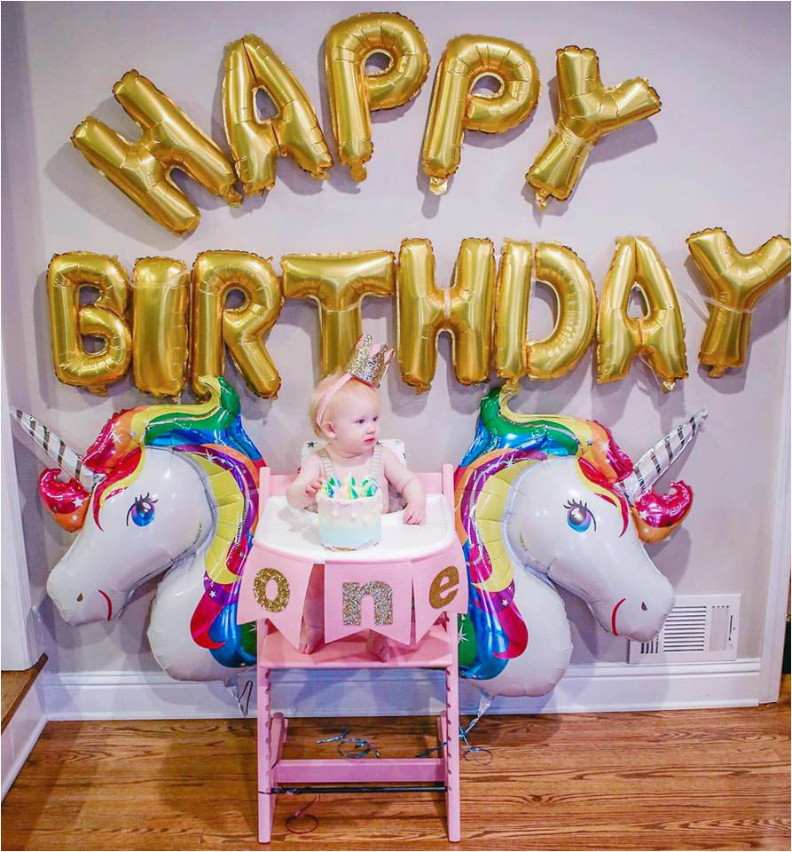 unicorn birthday party with stokke