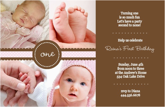 One Year Old Birthday Quotes For Invitations 1st Invitation Wording Ideas From Purpletrail