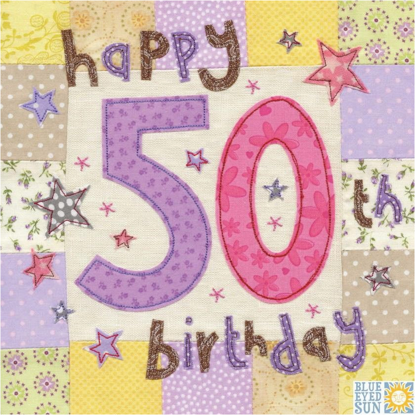 Online 50th Birthday Cards Happy Card Large Luxury