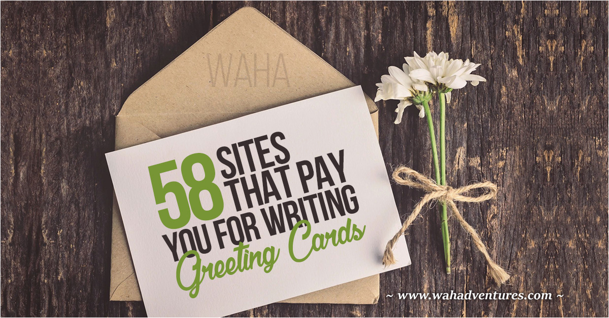 make money writing greeting card messages
