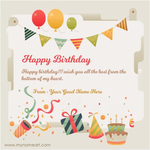 best birthday cards online friend name written on new
