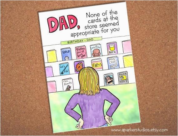 dad birthday card funny card for dad hand drawn card for