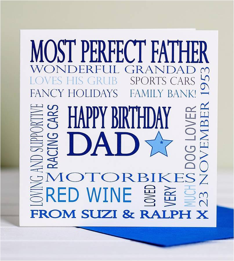 personalised dad birthday card by lisa marie designs