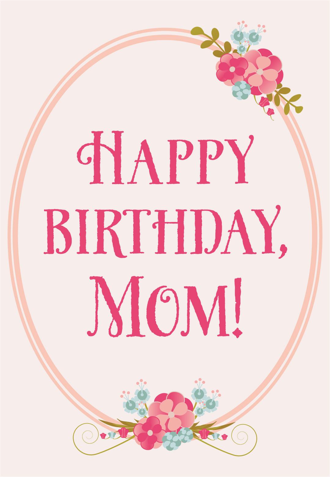Online Birthday Cards For Mom Floral Free Card Greetings
