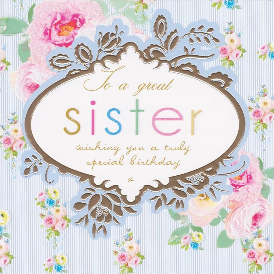 great sister birthday card stephanie rose