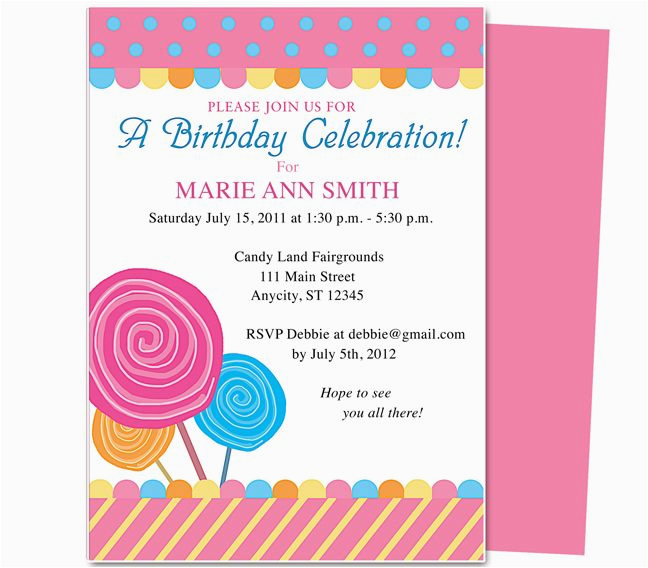 Online Birthday Invitations With Rsvp Picture 531987774710905116
