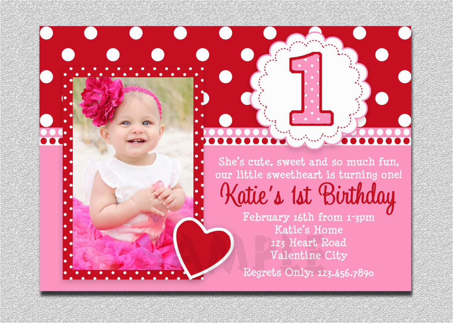 Online First Birthday Invitation Cards 1st Invitations Girl Free Template Baby 39 S