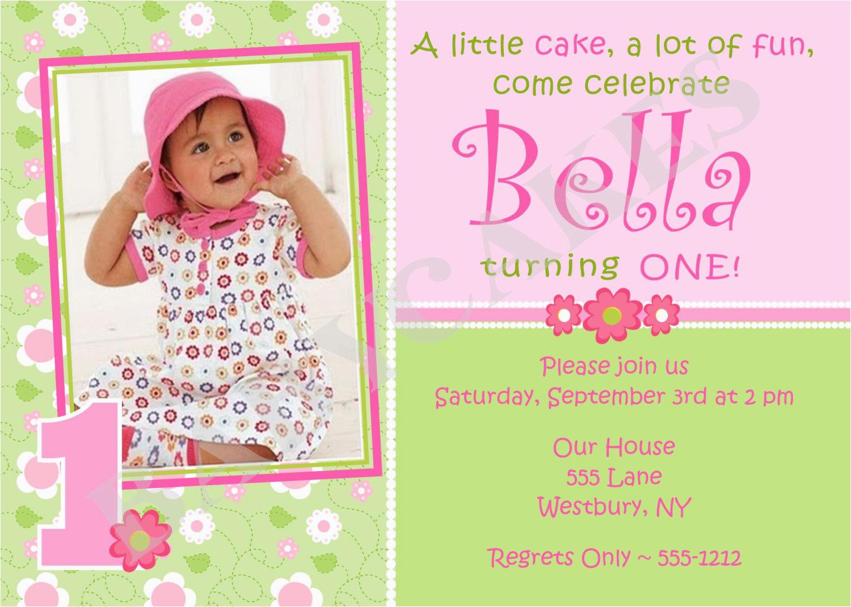 Online First Birthday Invitation Cards 1st Birthday Invitations Girl