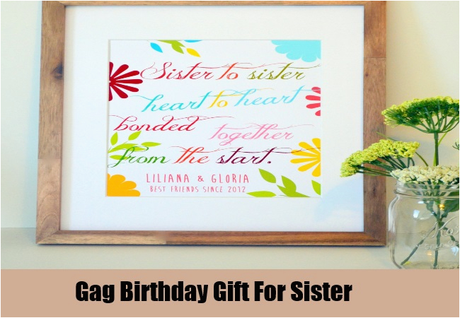 Best Birthday Gift Ideas For Sister Unique