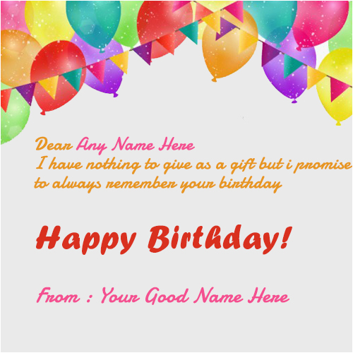 Online Happy Birthday Card with Name Edit Happy Birthday Wishes Card with Name Edit