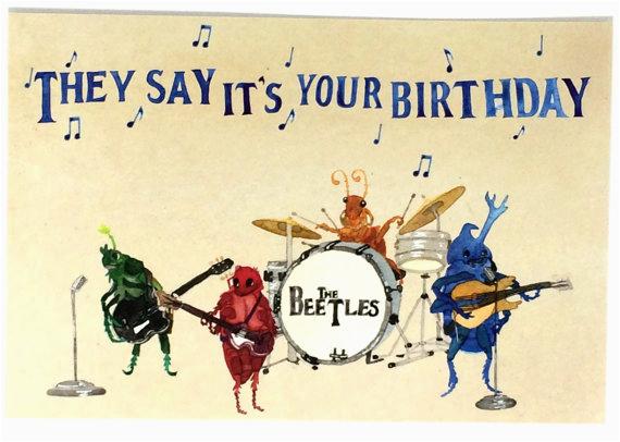 beatles happy birthday postcards beetles bday musical oldies