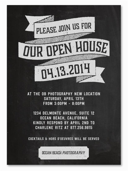 Open House Birthday Party Invitation Wording Business event Invitations Open House by Green Business
