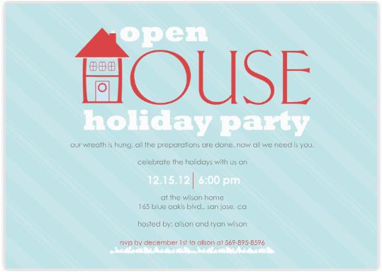 Open House Birthday Party Invitation Wording Open House Party Invitation Wording
