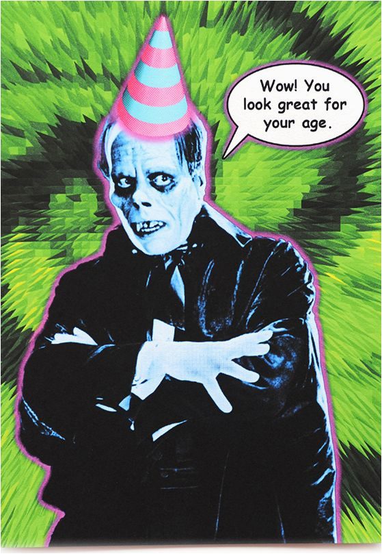 funny phantom birthday card is crafted in popliments