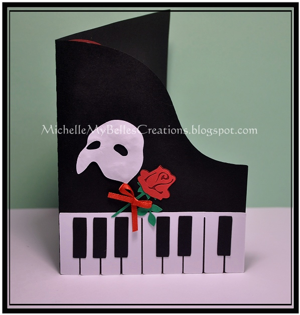 michellemybelle creations phantom of the opera invites