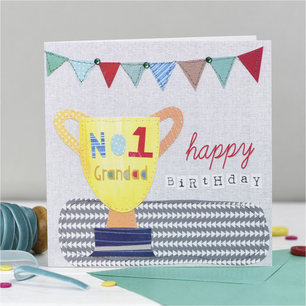 number one grandad happy birthday card karenza paperie