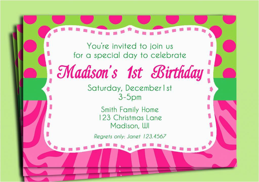 Order Birthday Invitations Online