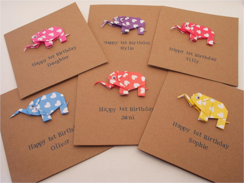 new baby happy birthday origami elephant
