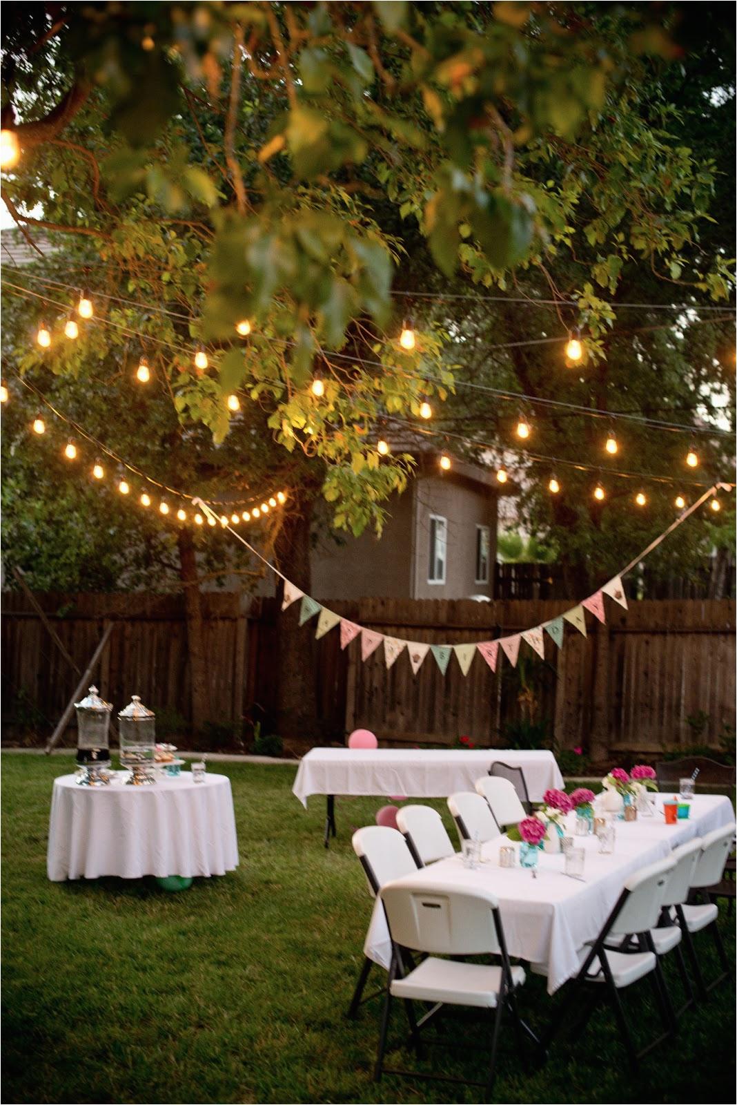 backyard birthday fun pink hydrangeas