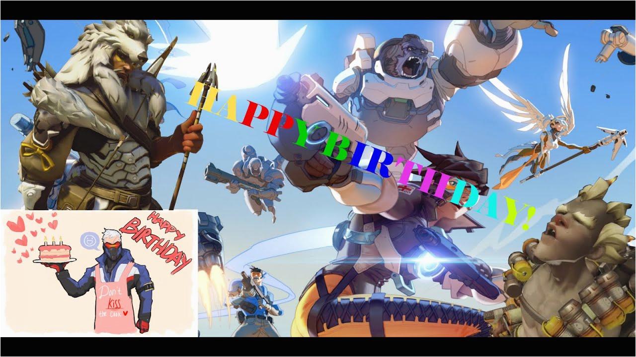 Overwatch Birthday Card Happy Youtube