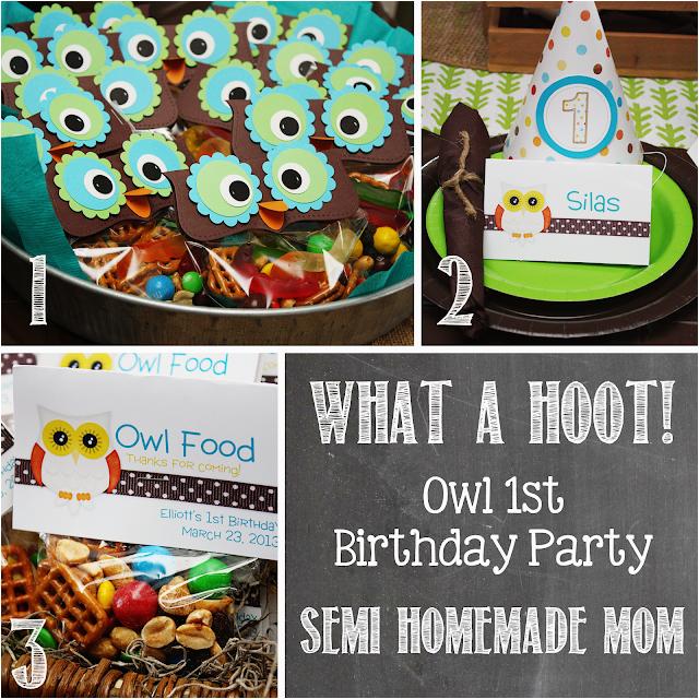 owl 1st birthday party