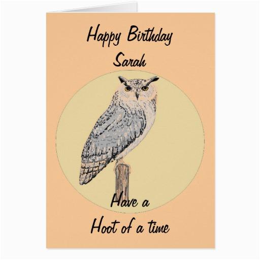 eagle owl greetings card